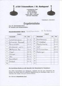 Gemeindestockturnier 2013